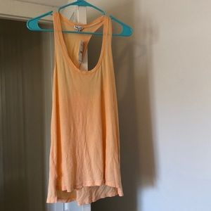 Light Orange Tank with Twisted Racer Back | NWT